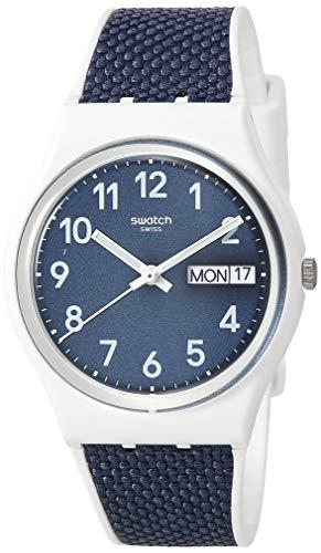 Swiss メンズ 【送料無料】Swatch White, メンズ Strap, Watch GW715)腕時計 Quartz Essentials Casual 16 bimaterial スウォッチ スウォッチ 腕時計 (Model: