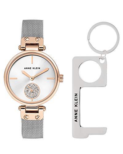 【有名人芸能人】 腕時計 アンクライン レディース 【送料無料】Anne Klein Women's Swarovski Crystal Accented Rose Gold-Tone and Silver-Tone Mesh Bracelet Watch and No Touch Key, AK/3001TRST腕時計 アンクライン レディース, JCCショップ 2b9e45ae