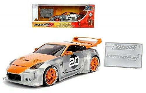 無料ラッピングでプレゼントや贈り物にも 逆輸入並行輸入送料込 ジャダトイズ 税込 ミニカー ダイキャスト アメリカ 送料無料 New DIECAST Toys 低廉 CAR JADA 1:24 W Metal 350Z Option B RAW 20TH - 2003 Nissan Anniversary D 31071ジャダトイズ Orange