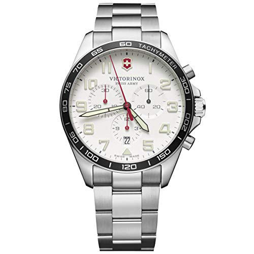 無料ラッピングでプレゼントや贈り物にも 逆輸入並行輸入送料込 腕時計 ビクトリノックス スイス メンズ 送料無料 Victorinox Men's Swiss Steel Stainless Watch Strap Silver with Model: 新商品!新型 21 241856 いつでも送料無料 Quartz