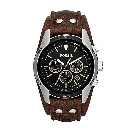 フォッシル 腕時計 メンズ CH2891 Fossil Men's Coachman Quartz Stainless Steel and Leather Casual Watch Color: Silver, Brown (Model: CH2891)フォッシル 腕時計 メンズ CH2891