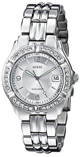 ゲス GUESS 腕時計 レディース 75511M 【送料無料】GUESS Silver-Tone Bracelet Watch with Date Feature. Color: Silver-Tone (Model: G75511M)ゲス GUESS 腕時計 レディース 75511M