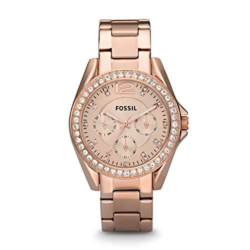 フォッシル 腕時計 レディース ES2811 Fossil Women's Riley Quartz Stainless Steel Chronograph Watch, Color: Rose Gold (Model: ES2811)フォッシル 腕時計 レディース ES2811