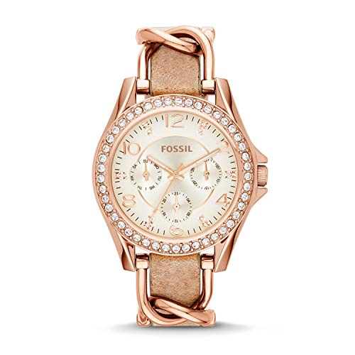 フォッシル 腕時計 レディース ES3466 【送料無料】Fossil Women Riley Quartz Stainless Steel and Leather Multifunction Watch, Color: Rose Gold, Tan (Model: ES3466)フォッシル 腕時計 レディース ES3466