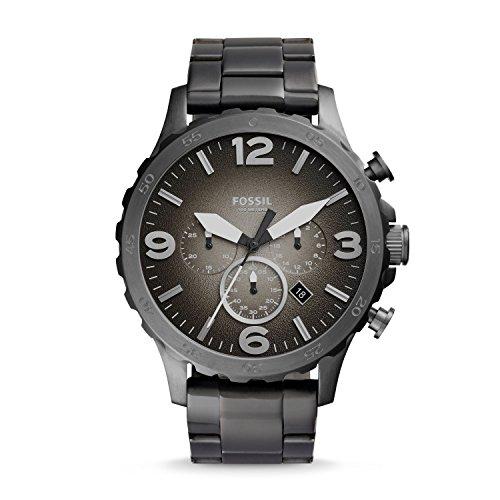 フォッシル 腕時計 メンズ JR1437 【送料無料】Fossil Men's Nate analog-quartz Watch with Stainless Steel Strap, Gunmetal, 24 (Model: JR1437)フォッシル 腕時計 メンズ JR1437