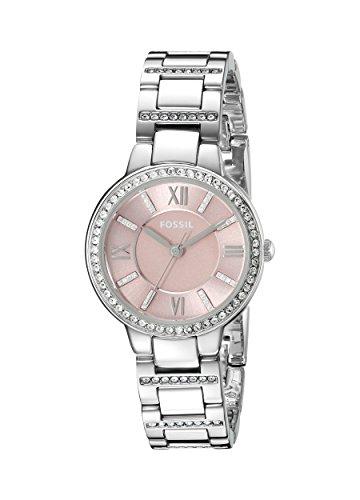 フォッシル 腕時計 レディース ES3504 Fossil Women's Virginia Quartz Stainless Steel and Stainless Dress Watch Color: Silver, Pink (Model: ES3504)フォッシル 腕時計 レディース ES3504