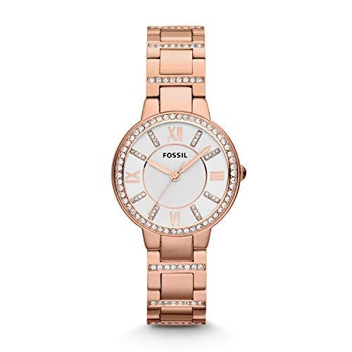 フォッシル 腕時計 レディース ES3284 Fossil Women's Virginia Quartz Stainless Steel Dress Watch, Color: Rose Gold (Model: ES3284)フォッシル 腕時計 レディース ES3284