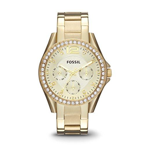 フォッシル 腕時計 レディース ES3203 Fossil Women's Riley Quartz Stainless Steel Chronograph Watch, Color: Gold (Model: ES3203)フォッシル 腕時計 レディース ES3203