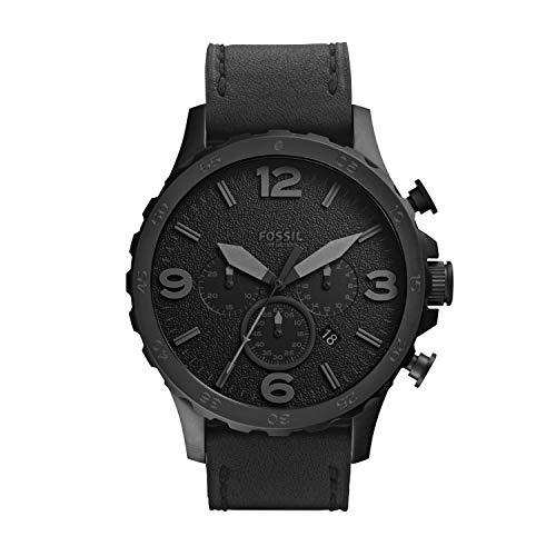 腕時計 フォッシル メンズ JR1354 【送料無料】Fossil Men's Nate Quartz Stainless Steel and Leather Chronograph Watch, Color: Black (Model: JR1354)腕時計 フォッシル メンズ JR1354
