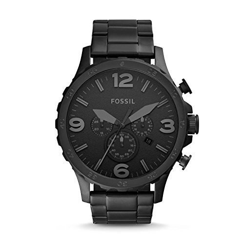 フォッシル 腕時計 メンズ JR1401 Fossil Men's Nate Quartz Stainless Steel Chronograph Watch, Color: Black (Model: JR1401)フォッシル 腕時計 メンズ JR1401