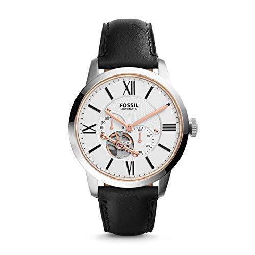 フォッシル 腕時計 メンズ ME3104 【送料無料】Fossil Men's ME3104 Automatic Self-Wind Watch with Black Strapフォッシル 腕時計 メンズ ME3104