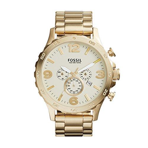 フォッシル 腕時計 メンズ JR1479 【送料無料】Fossil Men's JR1479 Nate Chronograph Stainless Steel Watch - Gold-Toneフォッシル 腕時計 メンズ JR1479