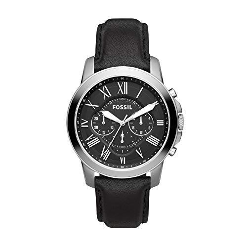 フォッシル 腕時計 メンズ FS4812 【送料無料】Fossil Men's Grant Stainless Steel Analog-Quartz Leather Calfskin Strap, Black, 22 Casual Watch (Model: FS4812IE)フォッシル 腕時計 メンズ FS4812