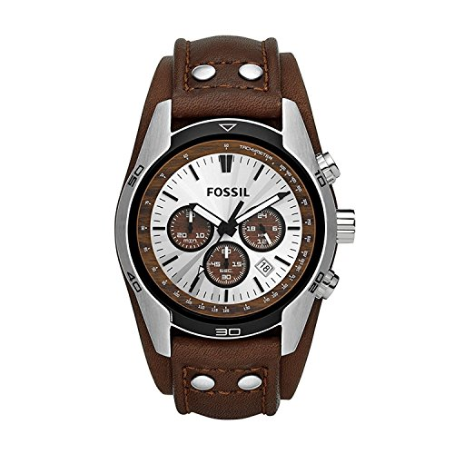 フォッシル 腕時計 メンズ CH2565 Fossil Men's Coachman Quartz Stainless Steel and Leather Casual Watch Color: Silver, Brown (Model: CH2565)フォッシル 腕時計 メンズ CH2565
