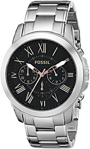 フォッシル 腕時計 メンズ FS4994 Fossil Men's FS4994 Grant Chronograph Stainless Steel Watch - Silver-Toneフォッシル 腕時計 メンズ FS4994