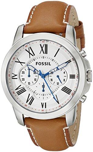 フォッシル 腕時計 メンズ FS5060 Fossil Men's FS5060 Grant Stainless Steel Watch with Brown Leather Bandフォッシル 腕時計 メンズ FS5060