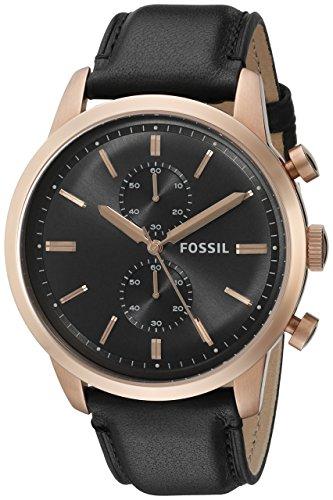 フォッシル 腕時計 メンズ FS5097 Fossil Men's FS5097 Townsman Chronograph Rose Gold-Tone Stainless Steel Watch with Black Leather Bandフォッシル 腕時計 メンズ FS5097