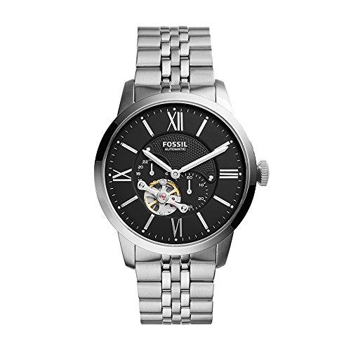 フォッシル 腕時計 メンズ ME3107 【送料無料】Fossil Men's ME3107 Analog Display Automatic Self-Wind Silver Watchフォッシル 腕時計 メンズ ME3107