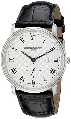 腕時計 フレデリックコンスタント メンズ FC-245M5S6 【送料無料】Frederique Constant Men's FC-245M5S6 Slim Line Silver Dial Roman Numerals Watch腕時計 フレデリックコンスタント メンズ FC-245M5S6