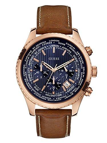 ゲス GUESS 腕時計 メンズ U0500G1 【送料無料】GUESS Men's Stainless Steel Casual Leather Watch, Color: Rose Gold-Tone/Brown (Model: U0500G1)ゲス GUESS 腕時計 メンズ U0500G1