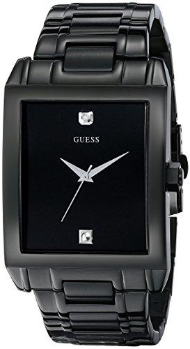 ゲス GUESS 腕時計 メンズ U12557G1 GUESS Men's U12557G1 Classic Black IP Rectangular Diamond Accented Watchゲス GUESS 腕時計 メンズ U12557G1