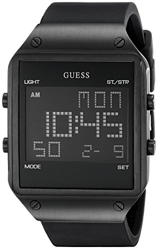 ゲス GUESS 腕時計 メンズ U0595G1 【送料無料】GUESS Comfortable Black Stain Resistant Silicone Digital Watch with Day, Date, 24 Hour Military/Int'l Time, Dual Time Zone + Alarm. Color: Black (Model: U0595G1)ゲス GUESS 腕時計 メンズ U0595G1