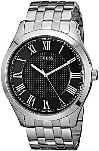 腕時計 ゲス GUESS メンズ U0476G1 【送料無料】GUESS Stainless Steel Black Dial Bracelet Watch with Date. Color: Silver-Tone (Model: U0476G1)腕時計 ゲス GUESS メンズ U0476G1