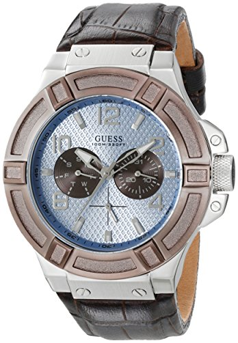 ゲス GUESS 腕時計 メンズ U0040G10 GUESS Men's U0040G10 Rigor Multi-Function Watch with Brown Bandゲス GUESS 腕時計 メンズ U0040G10