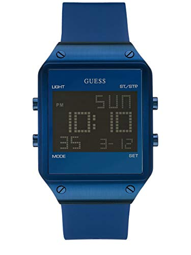 ゲス GUESS 腕時計 メンズ U0595G2 GUESS Men's U0595G2 Trendy Blue Stainless Steel Watch with Digital Dial and Blue Strap Buckleゲス GUESS 腕時計 メンズ U0595G2