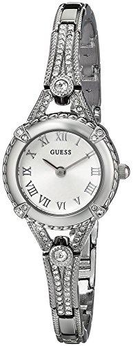 ゲス GUESS 腕時計 レディース U0135L1 【送料無料】GUESS Petite Silver-Tone Crystal Bracelet Watch with Self-Adjustable Links. Color: Silver-Tone (Model: U0135L1)ゲス GUESS 腕時計 レディース U0135L1