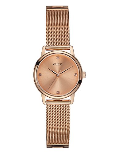 ゲス GUESS 腕時計 レディース U0532L3 GUESS Genuine Diamond Dial Rose Gold-Tone Mesh Bracelet Watch. Color: Rose Gold-Tone (Model: U0532L3)ゲス GUESS 腕時計 レディース U0532L3
