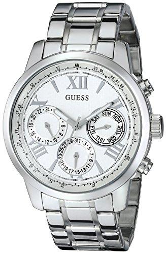 ゲス GUESS 腕時計 レディース U0330L3 GUESS Classic Silver-Tone Stainless Steel Bracelet Watch with Day, Date + 24 Hour Military/Int'l Time. Color: Silver-Tone (Model: U0330L3)ゲス GUESS 腕時計 レディース U0330L3