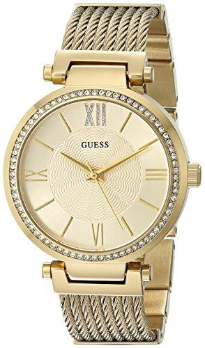 ゲス GUESS 腕時計 レディース U0638L2 【送料無料】GUESS Gold-Tone Stainless Steel Crystal Bangle Bracelet Watch with Self-Adjustable Links. Color: Gold-Tone (Model: U0638L2)ゲス GUESS 腕時計 レディース U0638L2