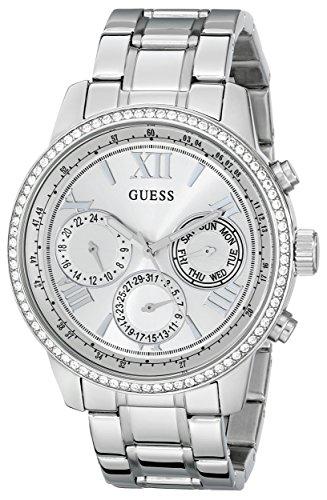 ゲス GUESS 腕時計 レディース U0559L1 GUESS Women's U0559L1 Sporty Silver-Tone Stainless Steel Watch with Multi-function Dial and Pilot Buckleゲス GUESS 腕時計 レディース U0559L1