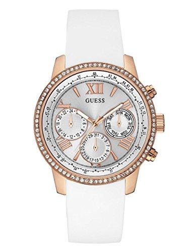 ゲス GUESS 腕時計 レディース U0616L1 【送料無料】GUESS Women's Stainless Steel Classic Silicone Watch, Color:Rose Gold-Tone/White (Model: U0616L1)ゲス GUESS 腕時計 レディース U0616L1