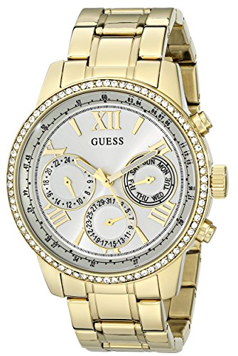 ゲス GUESS 腕時計 レディース U0559L2 GUESS Women's U0559L2 Sporty Gold-Tone Stainless Steel Watch with Multi-function Dial and Pilot Buckleゲス GUESS 腕時計 レディース U0559L2
