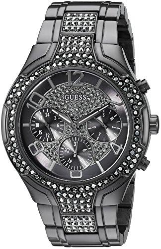 ゲス GUESS 腕時計 レディース U0628L5 【送料無料】GUESS Women's U0628L5 Sporty Gunmetal Watch with Grey Dial , Crystal-Accented Bezel and Stainless Steel Pilot Buckleゲス GUESS 腕時計 レディース U0628L5