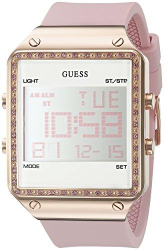 ゲス GUESS 腕時計 レディース U0700L2 GUESS Rose Gold-Tone Pink Digital Stain Resistant Silicone Watch. with Day, Date, 24 Hour Military/Int'l Time, Dual Time Zone + Alarm. Color: Pink (Model: U0700L2)ゲス GUESS 腕時計 レディース U0700L2
