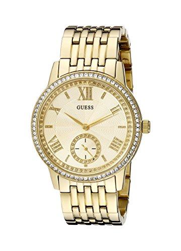 ゲス GUESS 腕時計 レディース U0573L2 【送料無料】GUESS Women's U0573L2 Classic Gold-Tone Watch with Genuine Crystalsゲス GUESS 腕時計 レディース U0573L2