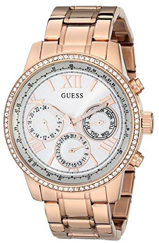 ゲス GUESS 腕時計 レディース U0559L3 【送料無料】GUESS Women's U0559L3 Sporty Rose Gold-Tone Stainless Steel Watch with Multi-function Dial and Pilot Buckleゲス GUESS 腕時計 レディース U0559L3