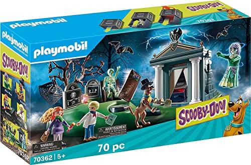 無料ラッピングでプレゼントや贈り物にも 逆輸入並行輸入送料込 プレイモービル 送料無料でお届けします ブロック 組み立て 知育玩具 ドイツ 送料無料 Scooby-DOO Playmobil Adventure Playsetプレイモービル Cemetery The 値引き in