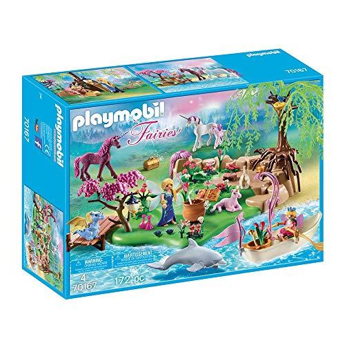 おしゃれ 無料ラッピングでプレゼントや贈り物にも 逆輸入並行輸入送料込 プレイモービル ブロック 組み立て 知育玩具 ドイツ 送料無料 Playmobil - 70167 Fairies Moreプレイモービル Set and with 限定モデル Unicorns Island