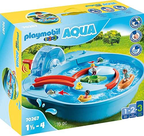 商舗 無料ラッピングでプレゼントや贈り物にも 逆輸入並行輸入送料込 プレイモービル ブロック 組み立て 知育玩具 ドイツ 送料無料 Playmobil 1.2.3 from to Yearsプレイモービル 70267 4 Waterway Cheerful Aqua 1.5 毎日続々入荷