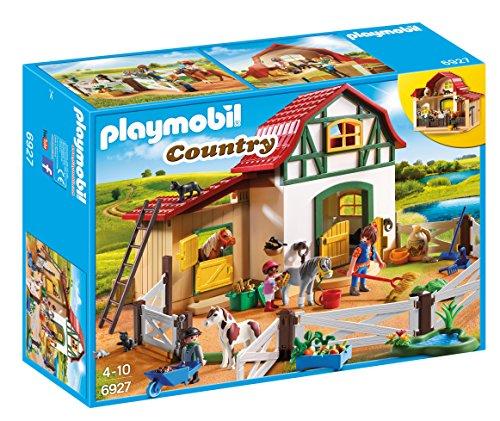 無料ラッピングでプレゼントや贈り物にも 逆輸入並行輸入送料込 プレイモービル ブロック 組み立て 知育玩具 ドイツ 送料無料 Playmobil 6927 Loftプレイモービル Stalls Pony 永遠の定番 2 with and Country 購買 Storage Farm