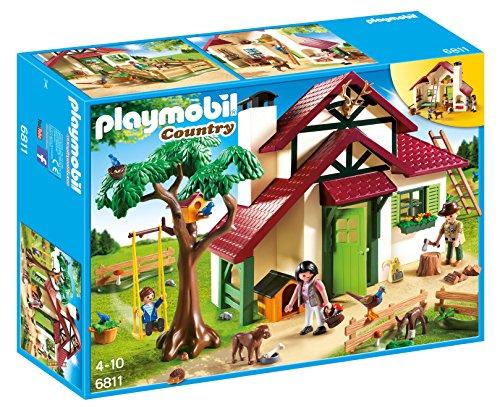 無料ラッピングでプレゼントや贈り物にも 特価キャンペーン 逆輸入並行輸入送料込 プレイモービル ブロック 組み立て 知育玩具 ドイツ Wildlife Ranger's Playmobil レビューを書けば送料当店負担 6811 Forest 送料無料 Houseプレイモービル