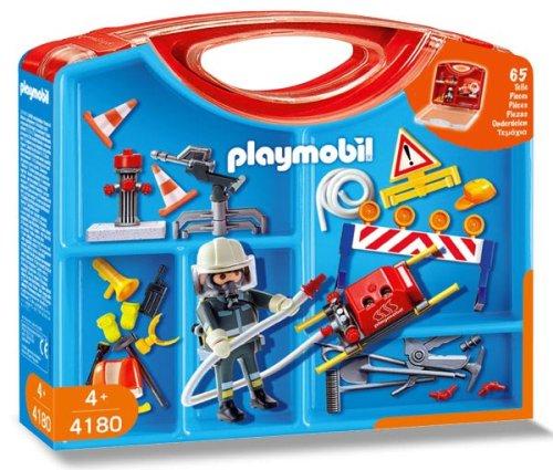 業界No.1 無料ラッピングでプレゼントや贈り物にも 逆輸入並行輸入送料込 プレイモービル ブロック 組み立て 知育玩具 送料無料 Playmobil 祝開店大放出セール開催中 Firemen Caseプレイモービル Carrying ドイツ
