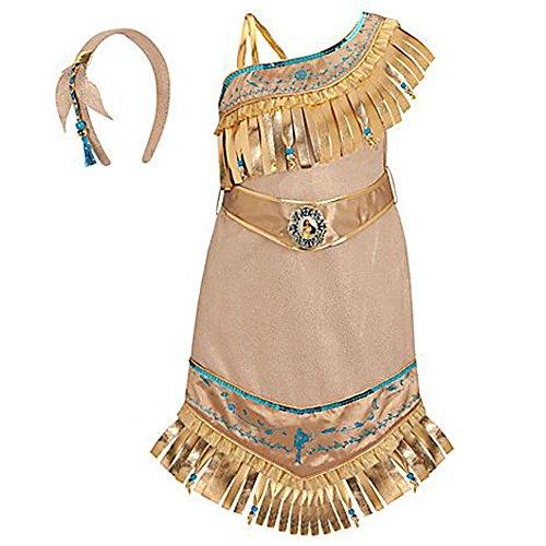 買い物 無料ラッピングでプレゼントや贈り物にも 逆輸入並行輸入送料込 信頼 ポカホンタス ディズニープリンセス 送料無料 Disney Store Princess 3ポカホンタス Pocahontas Costume 2 Girls XXS Size for