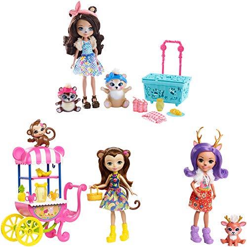 無料ラッピングでプレゼントや贈り物にも 安心の実績 高価 買取 強化中 逆輸入並行輸入送料込 エンチャンティマルズ 人形 ドール 送料無料 交換無料 Enchantimals PLAYSETエンチャンティマルズ Picnic The 3-Pack in Doll Park
