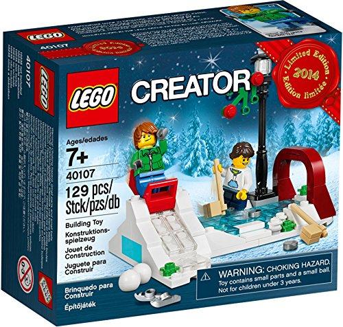 無料ラッピングでプレゼントや贈り物にも 店内全品対象 逆輸入並行輸入送料込 レゴ クリエイター 送料無料 Lego 期間限定特別価格 Creator Christmas Ice Skating Set LEGOレゴ Rink VIP Bonus 40107 Promo by RARE -