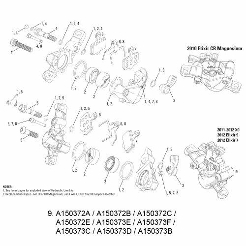 ブレーキ パーツ 自転車 コンポーネント サイクリング A150373E Avid Caliper assembly (74mm), 12 Elixir-7 (grey) eaブレーキ パーツ 自転車 コンポーネント サイクリング A150373E